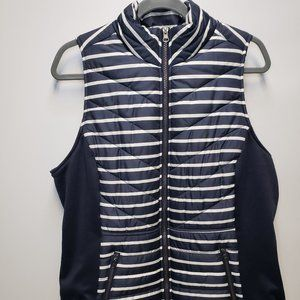 Maurices InMotion Puffer Vest Navy Blue and White